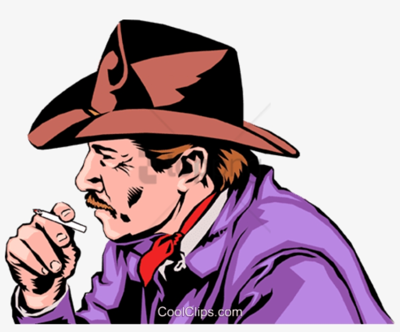 Cowboy Smoking - Smoking Cowboy Png, transparent png #262432