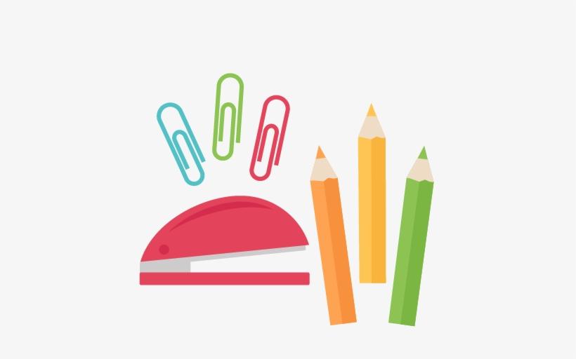 School Stuff Png - School Supplies Clipart Png, transparent png #262756