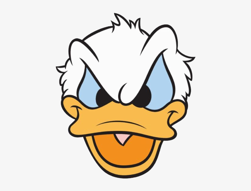 Donald Duck Clipart Mad - Donald Duck Angry Face, transparent png #262879