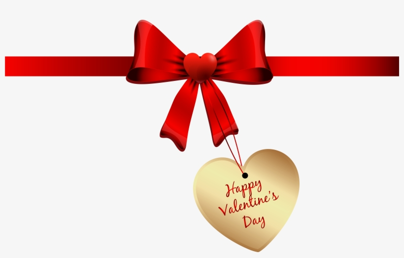 Valentines Day Bow Png Clipart Image, Is Available - Valentine's Day, transparent png #263039