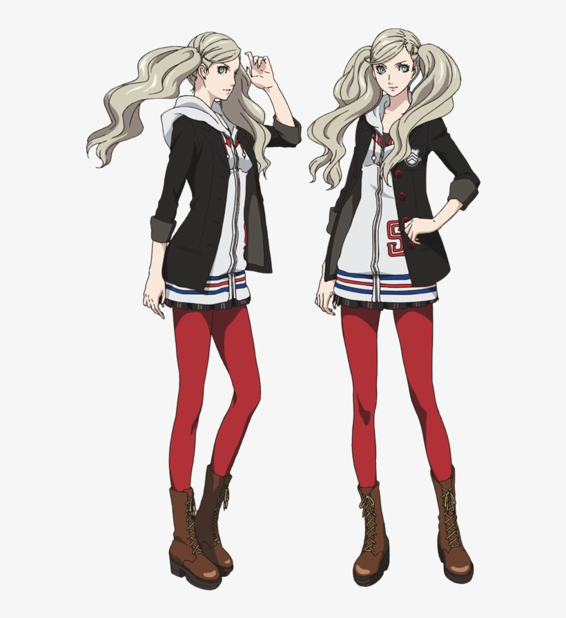 Concept Art For Ann Takamaki And Morgana In Persona - Persona 5 The Animation Characters, transparent png #263136