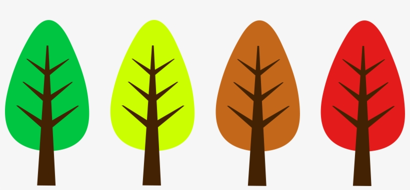 Cute Trees Cliparts - Cute Fall Tree Clipart, transparent png #263673