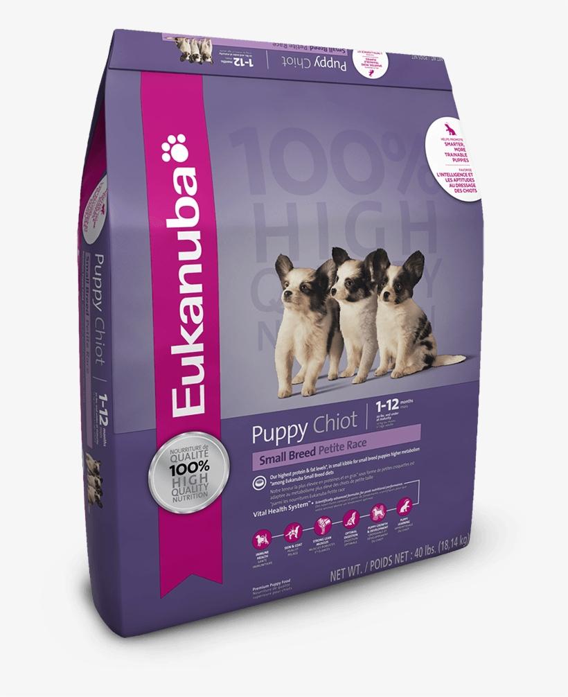 Eukanuba Small Breed Puppy Food, transparent png #264169