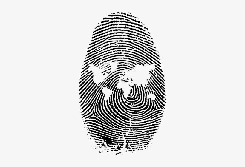 Fingerprint Vector High Re - World Map Fingerprint, transparent png #264302