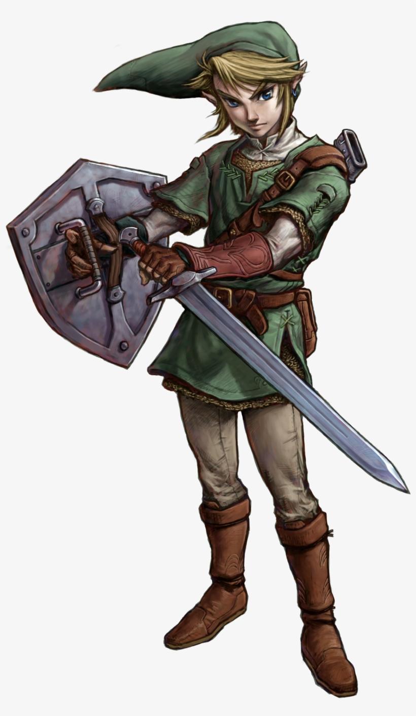 Link Artwork 2 - Link Zelda Twilight Princess, transparent png #264497