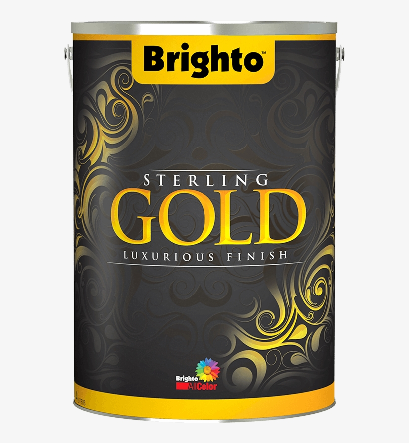Brighto Sterling Gold Is A High Class Water Based Paint - Sterling Gold Brighto Paint, transparent png #264823