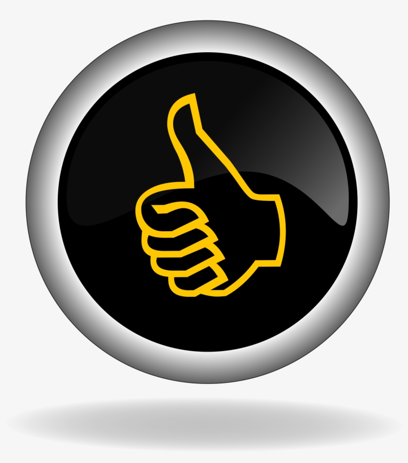Thumb Up Like Button Icon Back 1426815 - Thumbs Up, transparent png #265965