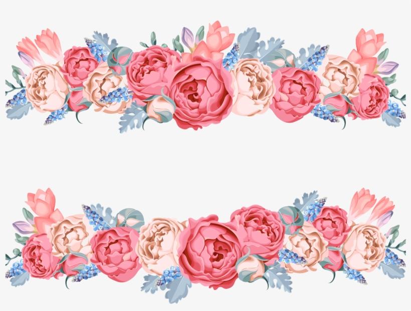 Flower Floral Design - Pink Flower Vector Png, transparent png #266205