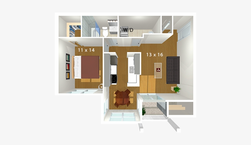 Bent Tree Apartments - Floor Plan, transparent png #266208