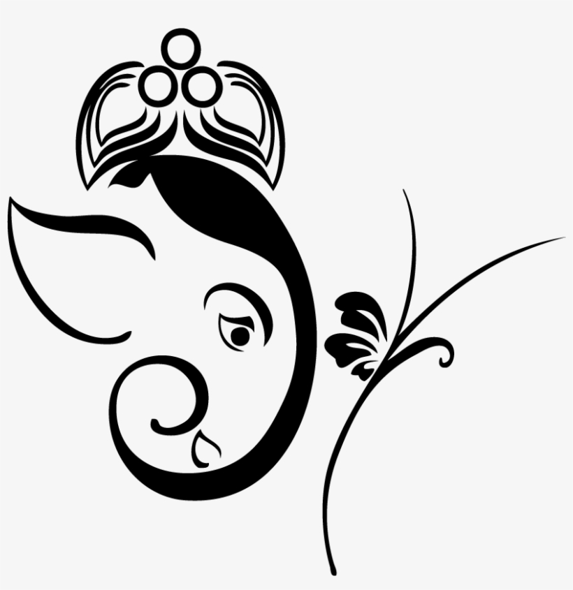 Collection Of Free Simple Download On Ubisafe Ganesh Ji Line Drawing Free Transparent Png Download Pngkey