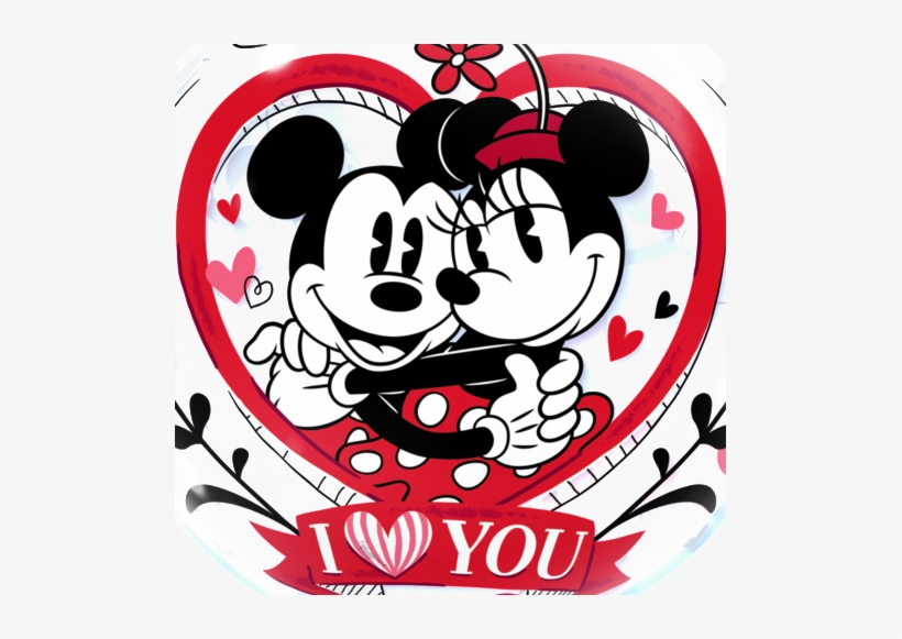 Mickey & Minnie Mouse Love Bubble Balloon - Mickey And Minnie Mouse, transparent png #268315