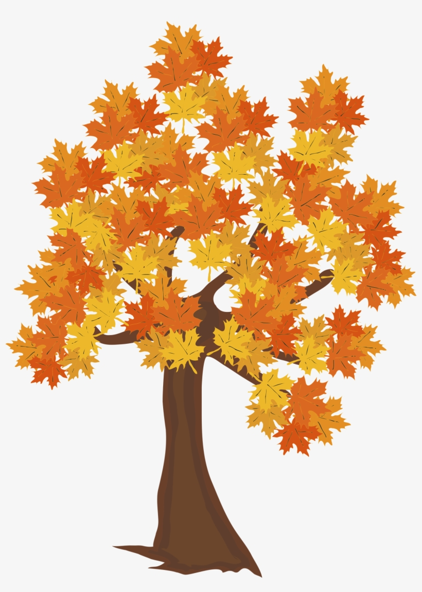 Fall Tree Png Image - Drawing Of Autumn Tree, transparent png #268336