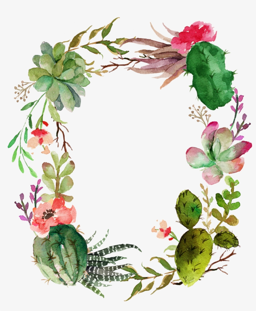 Clip Art Freeuse Stock Garland Vector Succulent - Flower, transparent png #268381