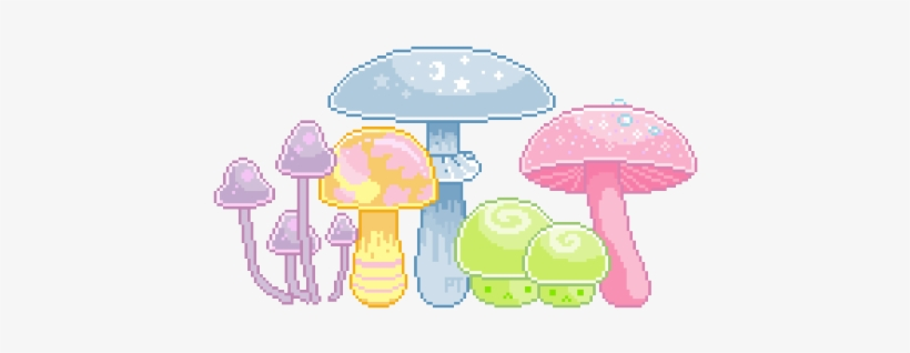 Sugar Mushrooms, Most Commonly Found In Fairy Lairs - Mushroom Tumblr Transparent, transparent png #268447