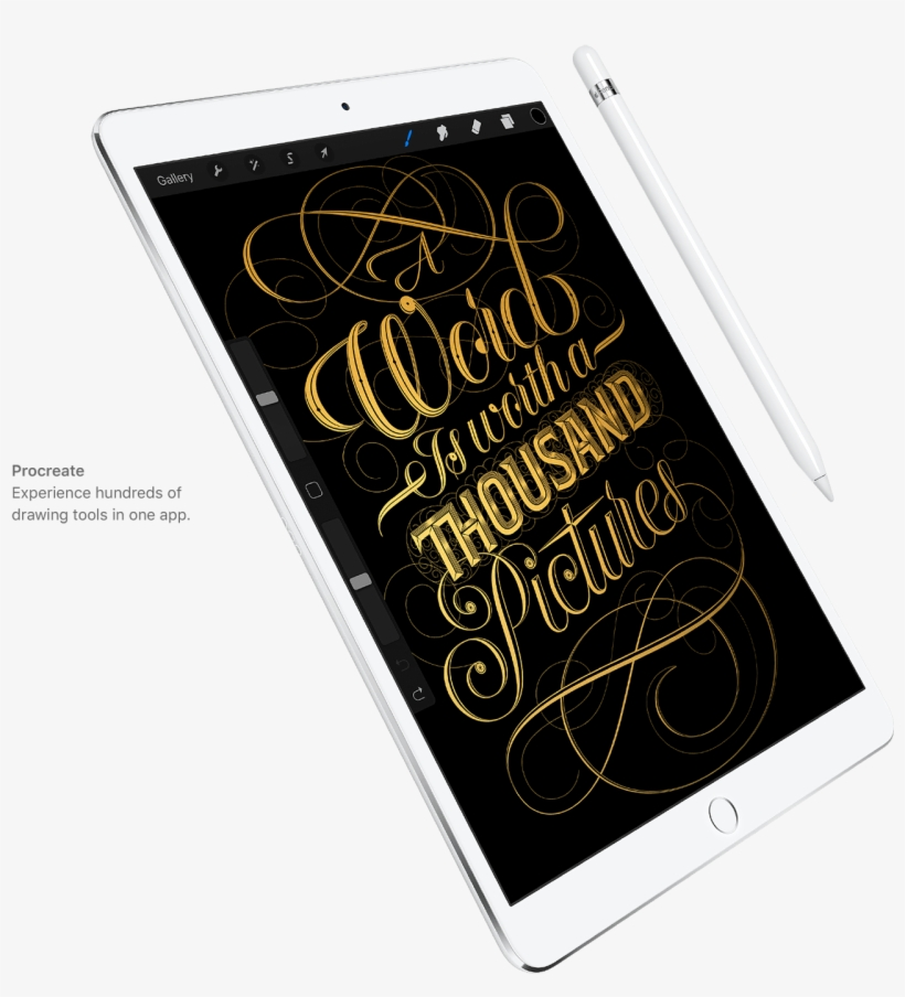 Ipad-pro Q317 Apple Pencil - Apple Ipad Pro 64gb Silver Tablet, transparent png #269089