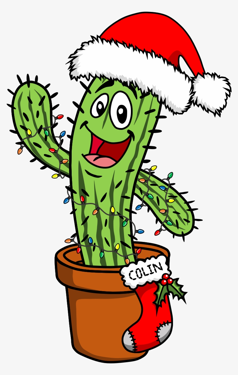 Cactus Clipart Christmas Cactus Free Collection - Christmas