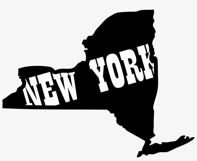 Supreme - New York State Outline Art, transparent png #269220