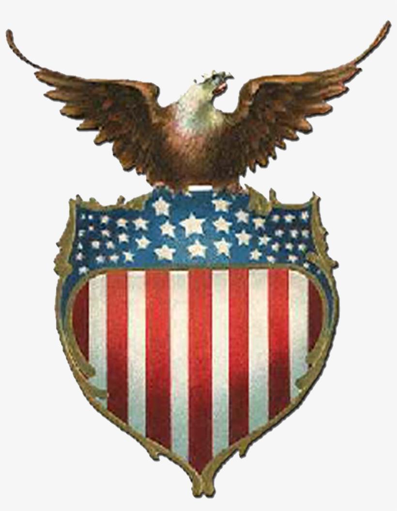 Usa Eagle Png Eagle On A Shield American Flag Free Transparent