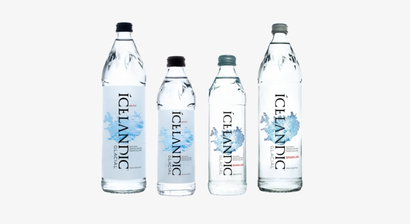 Icelandic Water In Glass Bottle, transparent png #2600389