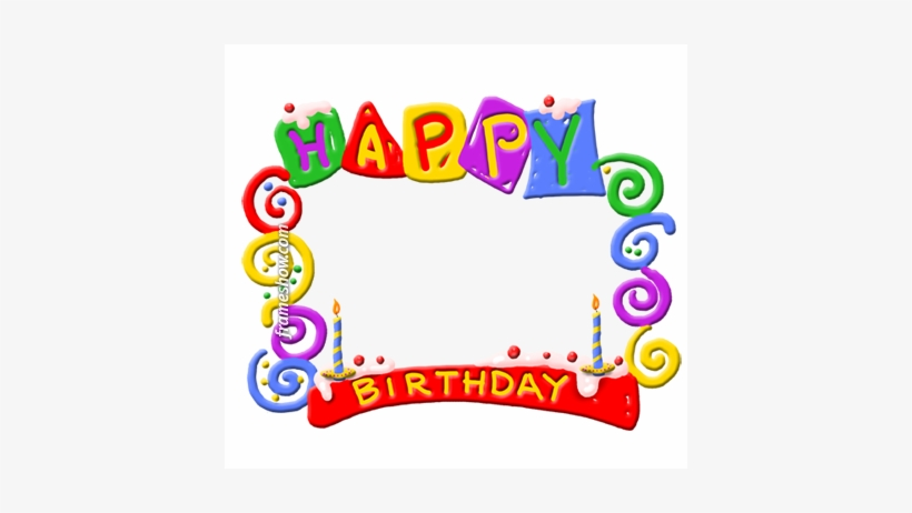 Frame Birthday Card Happy Birthday Png Transparent Background