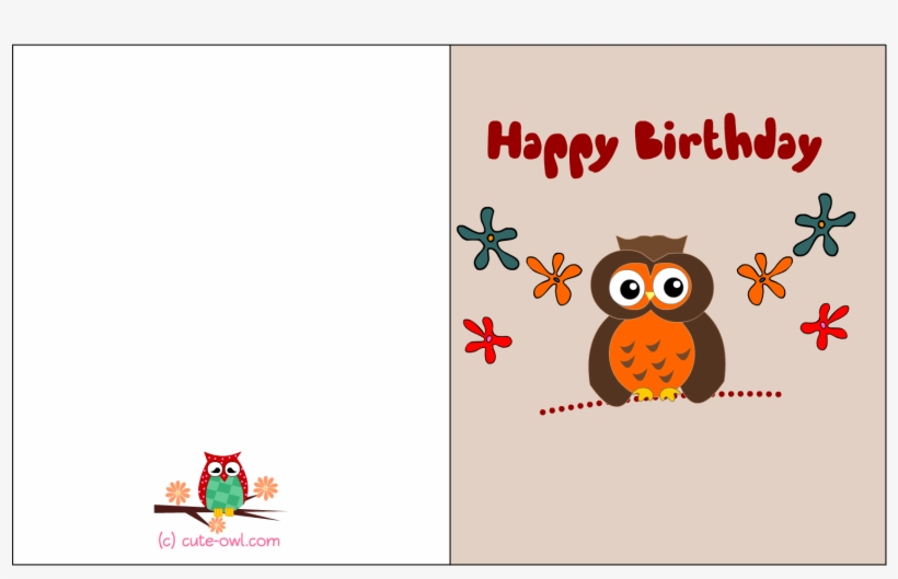 Free Printable Cute Owl Birthday Cards