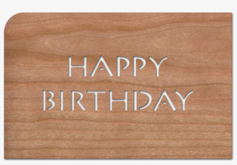 """Greeting Card """"buchstaben Happy Birthday"""" - Happy Birthday In Wood Png, transparent png #2601875"""