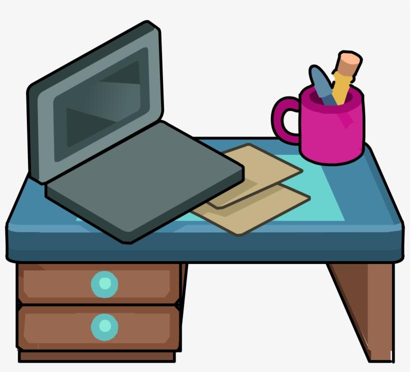 Image Furniture Icons Png Wiki Fandom - Club Penguin Desk, transparent png #2605195