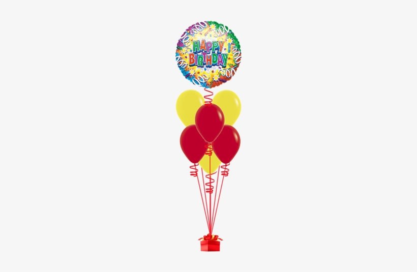 Color Blast Happy Birthday - Birthday Explosion 46cm Happy Birthday Foil Balloon, transparent png #2605821