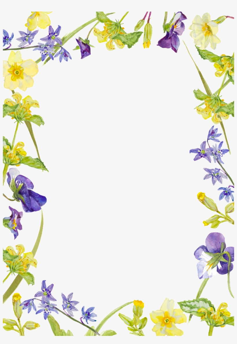 Yellow Purple Flower Watercolor Hand Painted Transparent - Watercolor Painting, transparent png #2605950