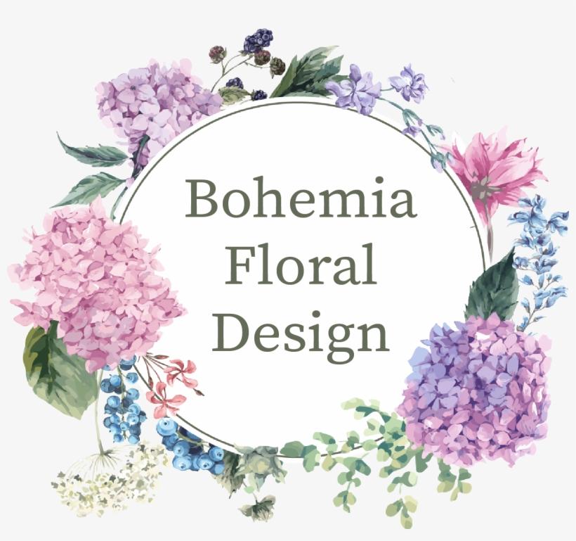 Website Design And Development By Harvest Moon Media - Purple Hydrangea Flower Frame, transparent png #2606299
