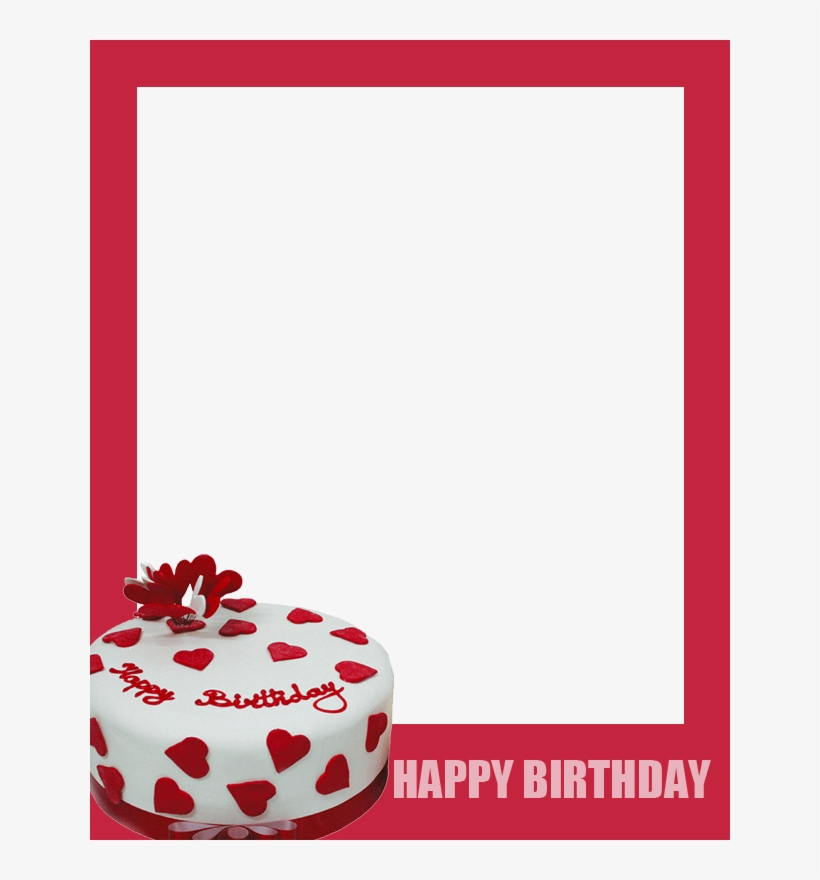 Happy Birthday Cake Photo Frame - Birthday Photo Frames With Cake, transparent png #2606548
