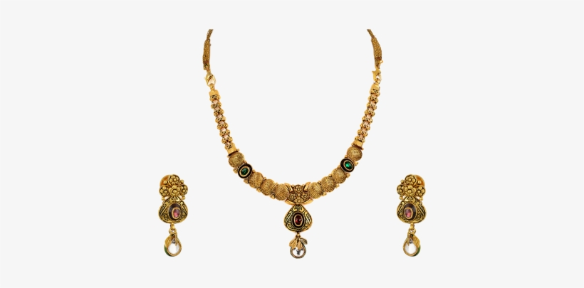 Orra Gold Set Necklace - Orra Gold Set Necklace Gold Jewellery, transparent png #2607209