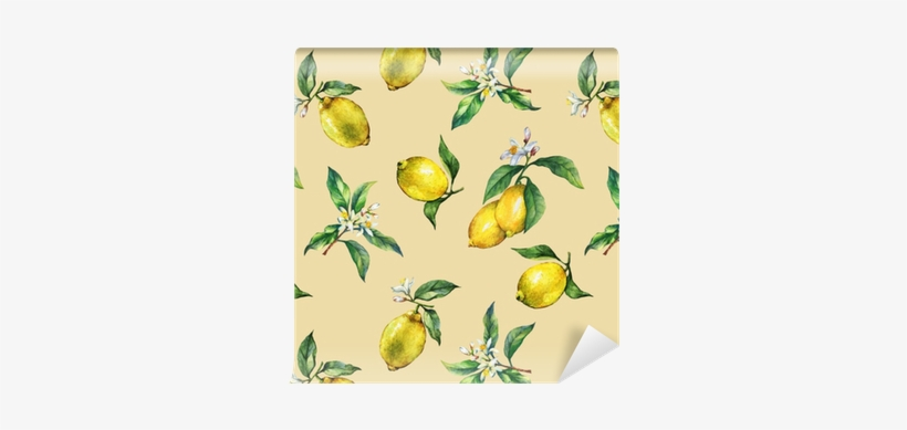 The Seamless Pattern Of The Branches Of Fresh Citrus - Lemon, transparent png #2607840