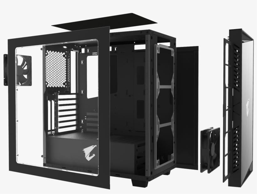Buy Aorus Cabinet Gigabyte Aorus Ac300w R2 Atx - Gigabyte Ac300w Atx Mid Tower Pc Case, transparent png #2608731
