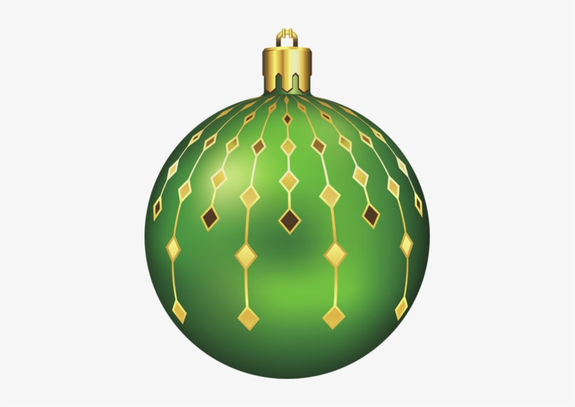 Large Transparent Green Christmas Ball Gallery View - Green Christmas Balls Clipart, transparent png #2610880