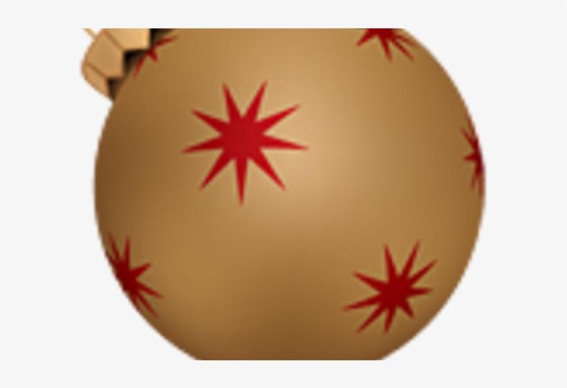 Christmas Ball Clipart Gold - Christmas Ball, transparent png #2611081