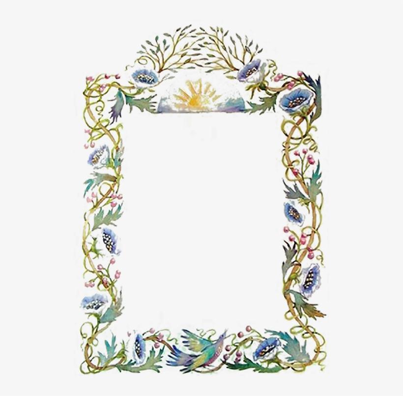 Blue Flowers Border - Flower Border Design, transparent png #2613524