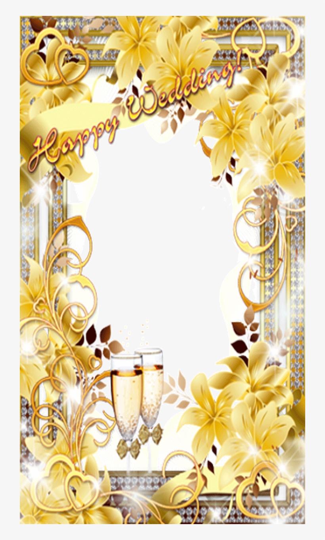 Wedding Photo Frame - Yellow Wedding Png Photo Frame, transparent png #2613782