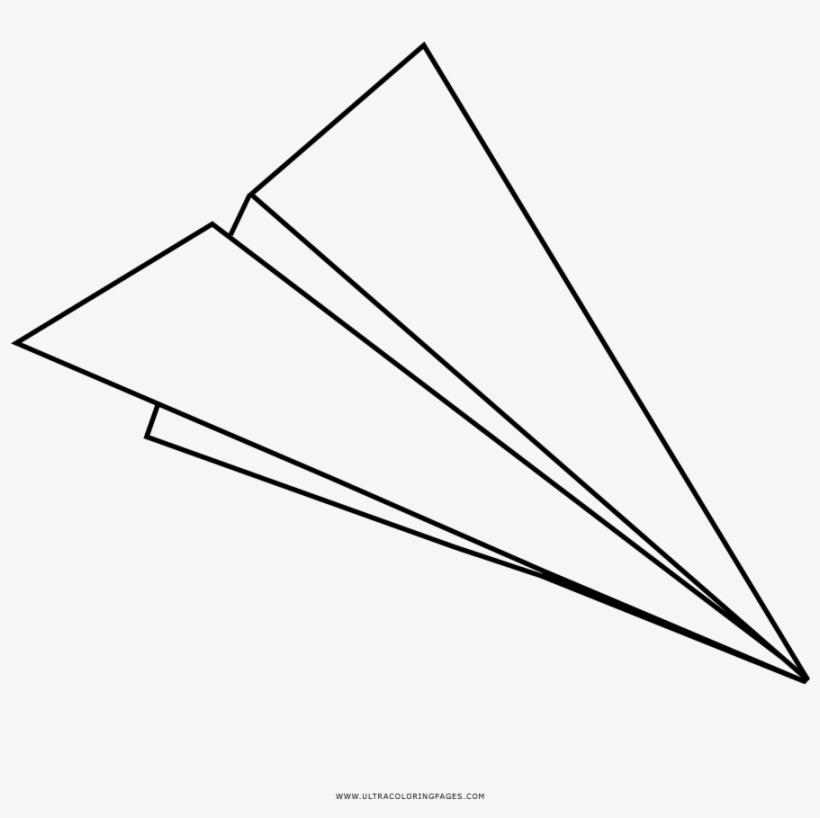 Aeroplano Di Carta Disegni Da Colorare White Paper Plane Png