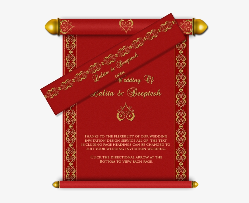 Border Designs For Indian Wedding Cards Wwwimgkidcom Hindu Wedding Invitation Card Design Free Transparent Png Download Pngkey