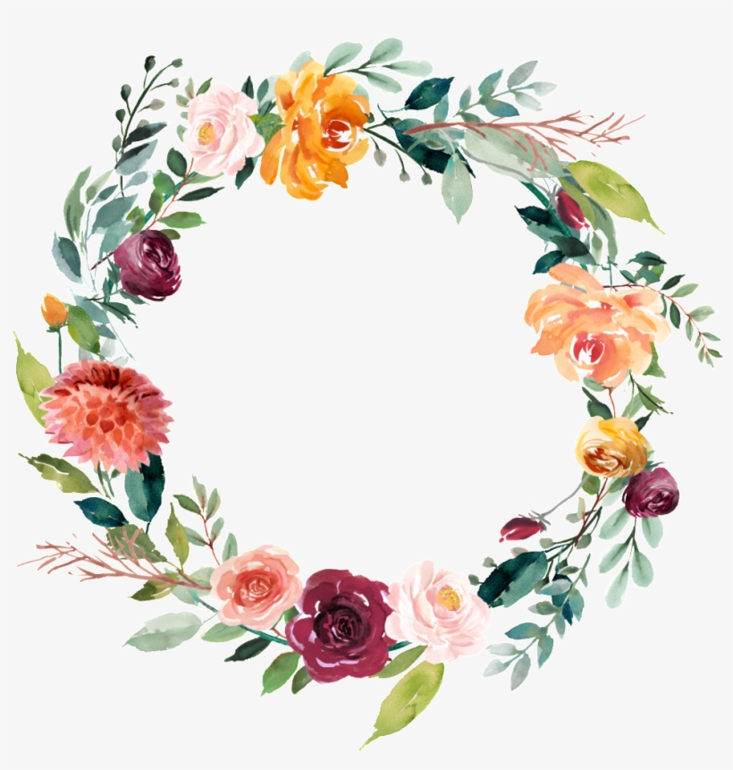 This Graphics Is Garland Vector About Watercolor,flowers - Floral Bridal Shower Decor, transparent png #2614616