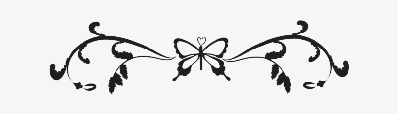 Black Butterfly Border Png Butterfly Border Design Black Free