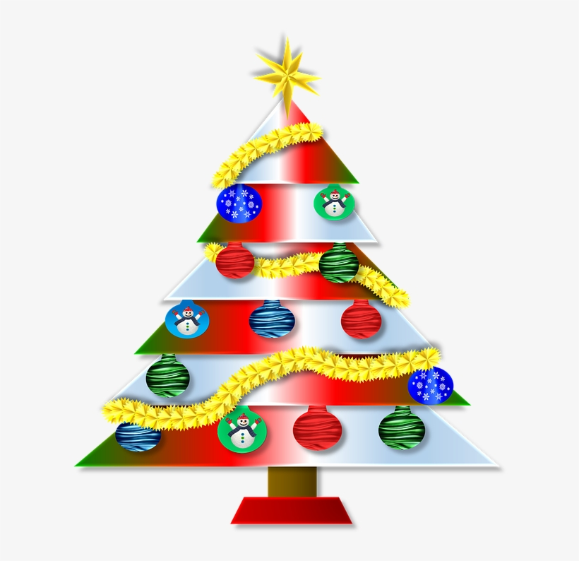 Merry Christmas, Tree, Decorations, Ornaments, Stylized - Merry Christmas Trees, transparent png #2615962