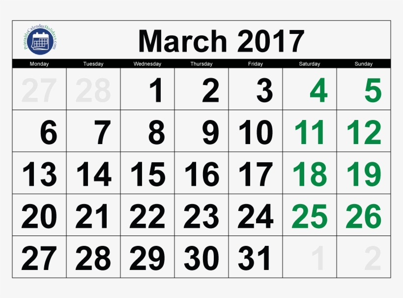 2017 Calendar March Printable - 2019 Calendar Malayalam March, transparent png #2616615