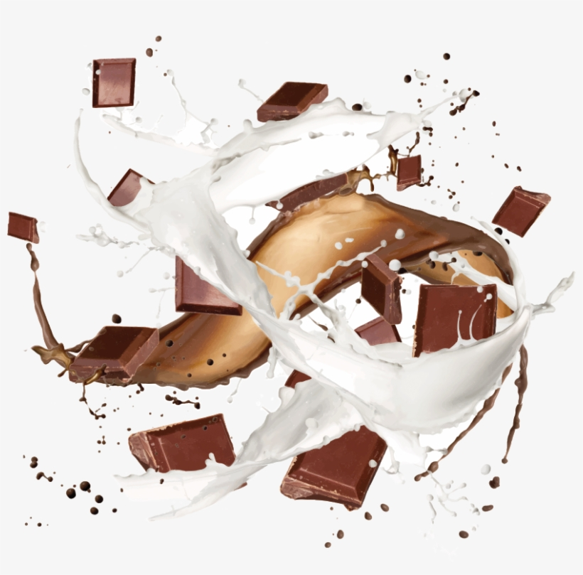 Splash Chocolate And Milk Png, transparent png #2616616