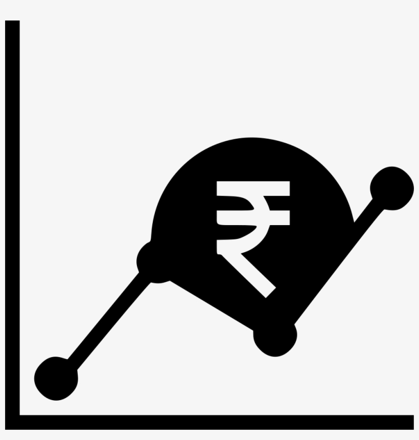 Graph Money Indian Rupee Business Growth Chart Svg - Business, transparent png #2616931