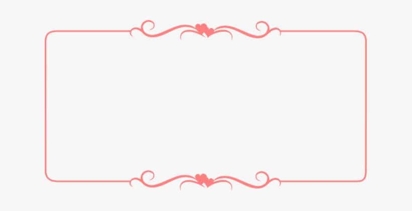 Frame Border Pink Design Decoration Label - Hearts Border, transparent png #2619564