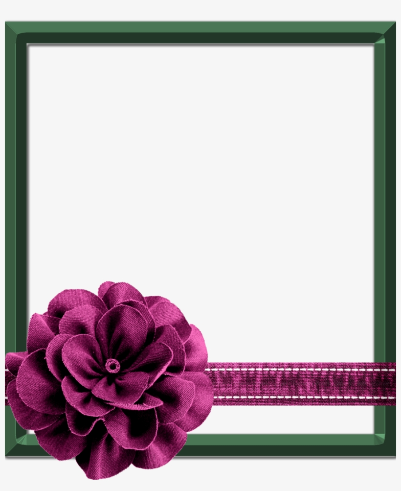 Beautiful Flowers Frame Photoshop Clipart Picture Frames - Flower Frame For Photoshop, transparent png #2619894