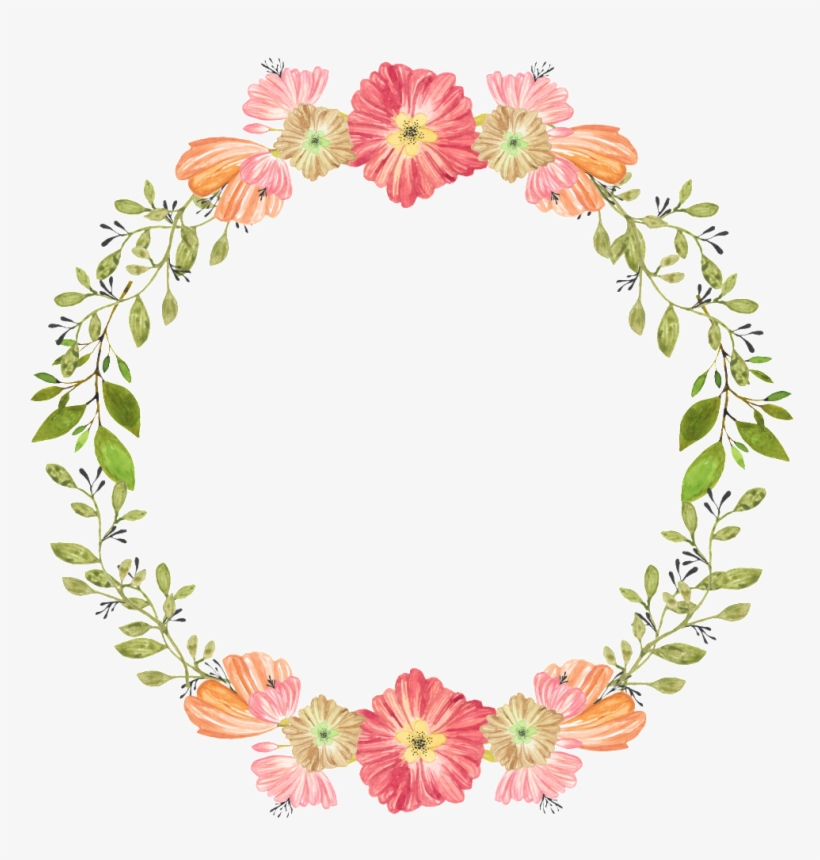 Practical Wedding Decoration Garland Png Free Buckle - Personalised Watercolor Floral Wreath Wedding Tote, transparent png #2622121