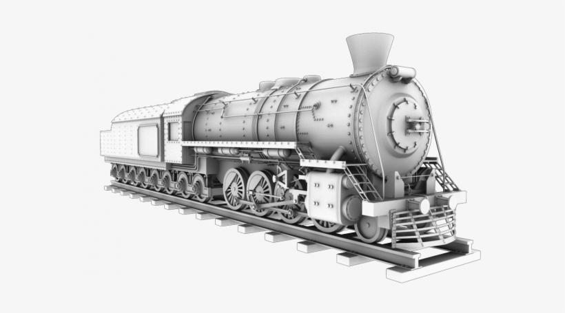 39 Amazing Train 3d Model Free Download - 3d Model Of Train, transparent png #2622641